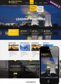 Industrial product Bootstrap template