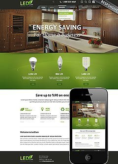 Energy saving Bootstrap template