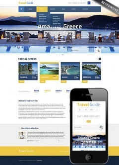 Travel Guide Wordpress template