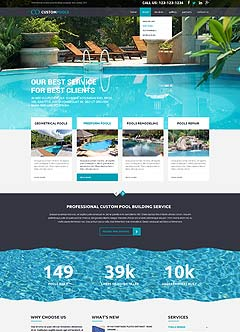 Custom Pools Bootstrap template