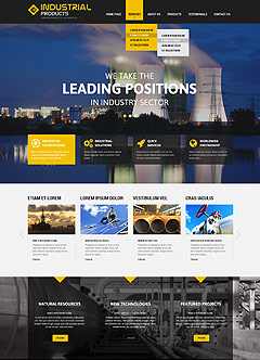 Industrial products Wordpress template