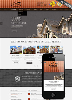 Roofing Wordpress template