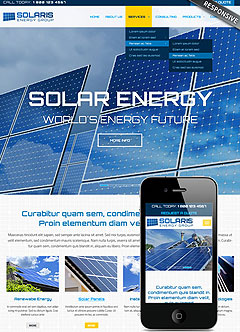 Solar energy Bootstrap template