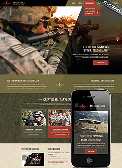 Military Wordpress template
