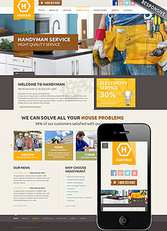 Handyman service Wordpress template