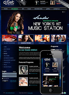 Radio Station v3 Joomla template