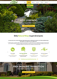 Pest control Bootstrap template