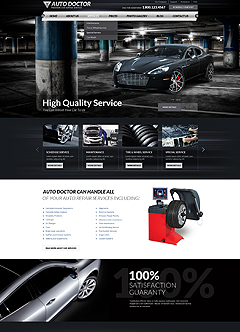 Car repair service Wordpress template