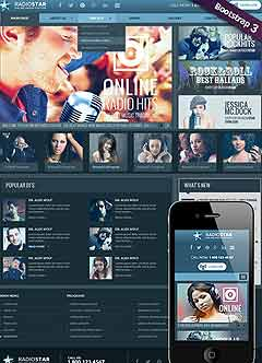Radio Star Wordpress template
