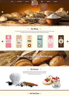 Bakery Bootstrap template
