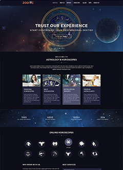Zodiac Astrology v3.4 Joomla template