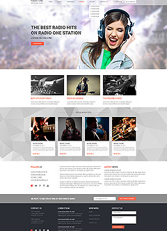 Radio One Wordpress template