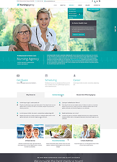 Nursing care Bootstrap template