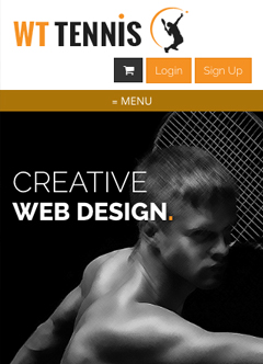 Tennis Club Bootstrap template