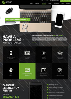 Computer Repair Bootstrap template