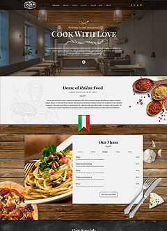 Italian Restaurant Wordpress templates