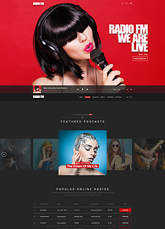 RADIO FM Wordpress template
