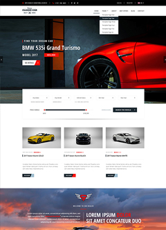 Car Marketplace Bootstrap template