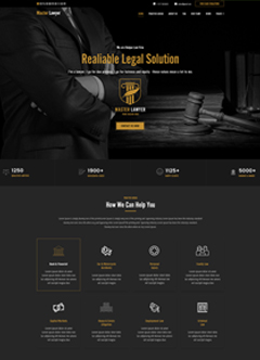 Master Lawyer Wordpress Шаблон