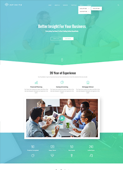 Infinity - Multipurpose Bootstrap template
