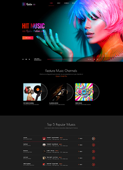 Hot radio Bootstrap 4 Bootstrap template
