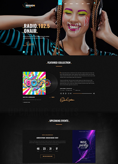 Radio Woocommerce theme Wordpress template